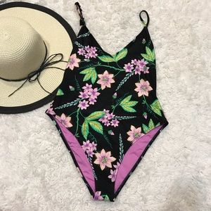 New! Topshop Flower One Piece Swimsuit